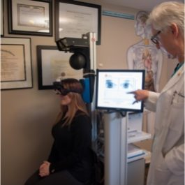 testing a patients vision post-concussion
