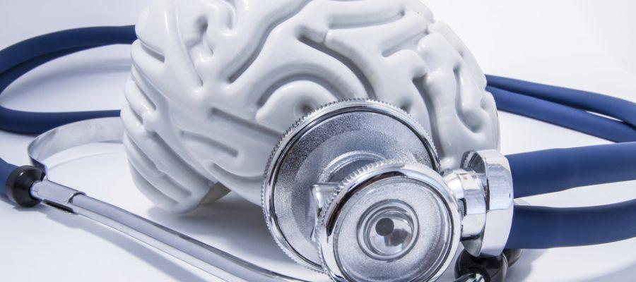 animation of brain & stethoscope