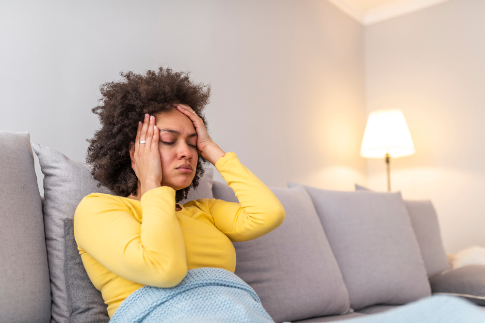 woman resting after concussion