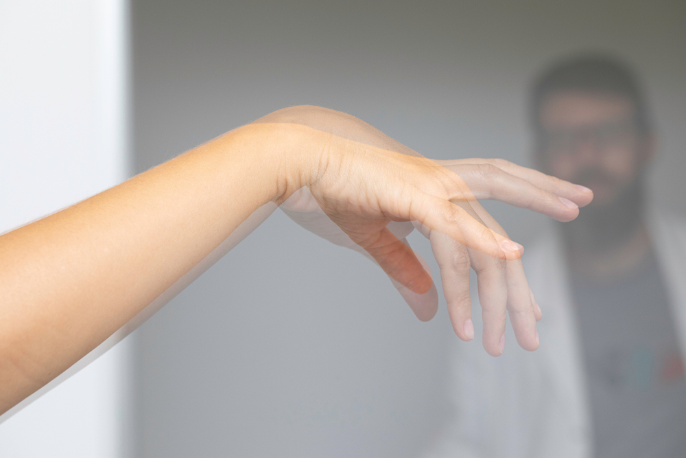 hand affected by dystonia