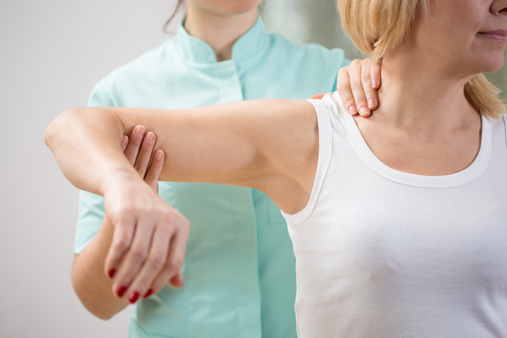 woman treated for musculoskeletal disorder