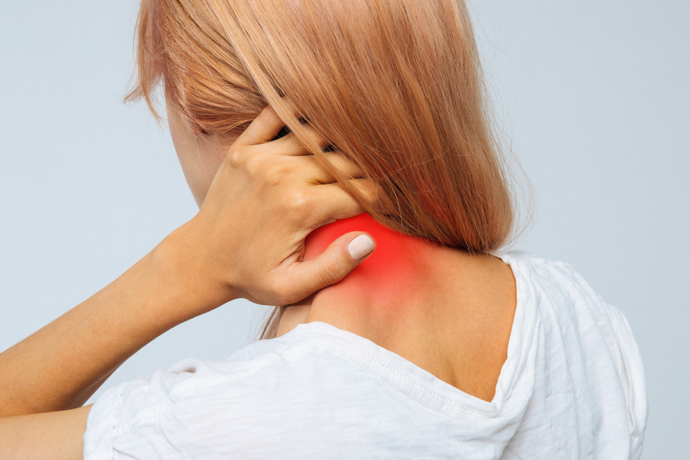 woman suffers from musculoskeletal disorder