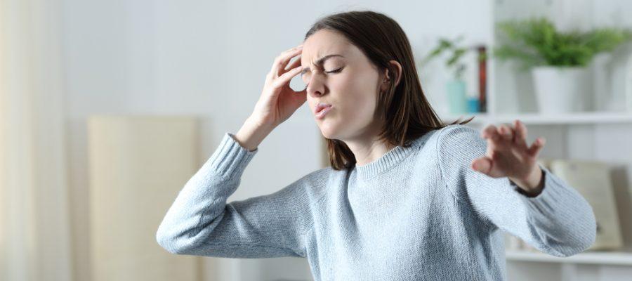 woman with balance disorder vertigo
