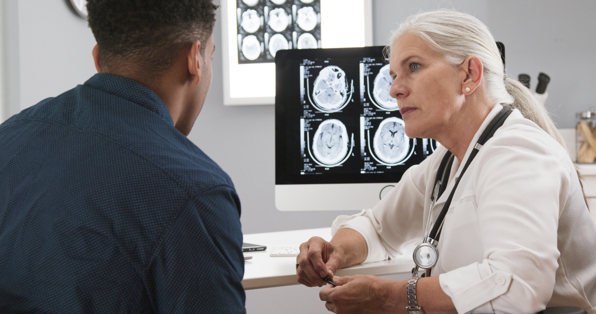young man with neurologist